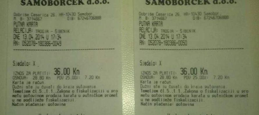 Primoštenac pročitao red vožnje, čekao bus, a do Šibenika mu naplatili kartu od Trogira!