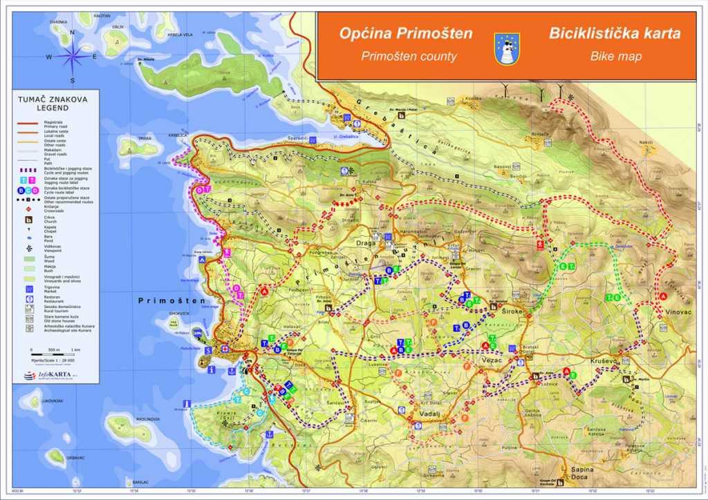 Map Primosten