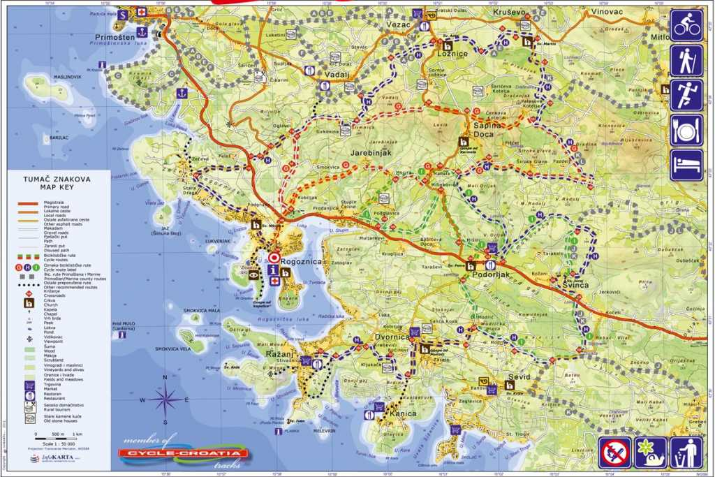 Map Rogoznica