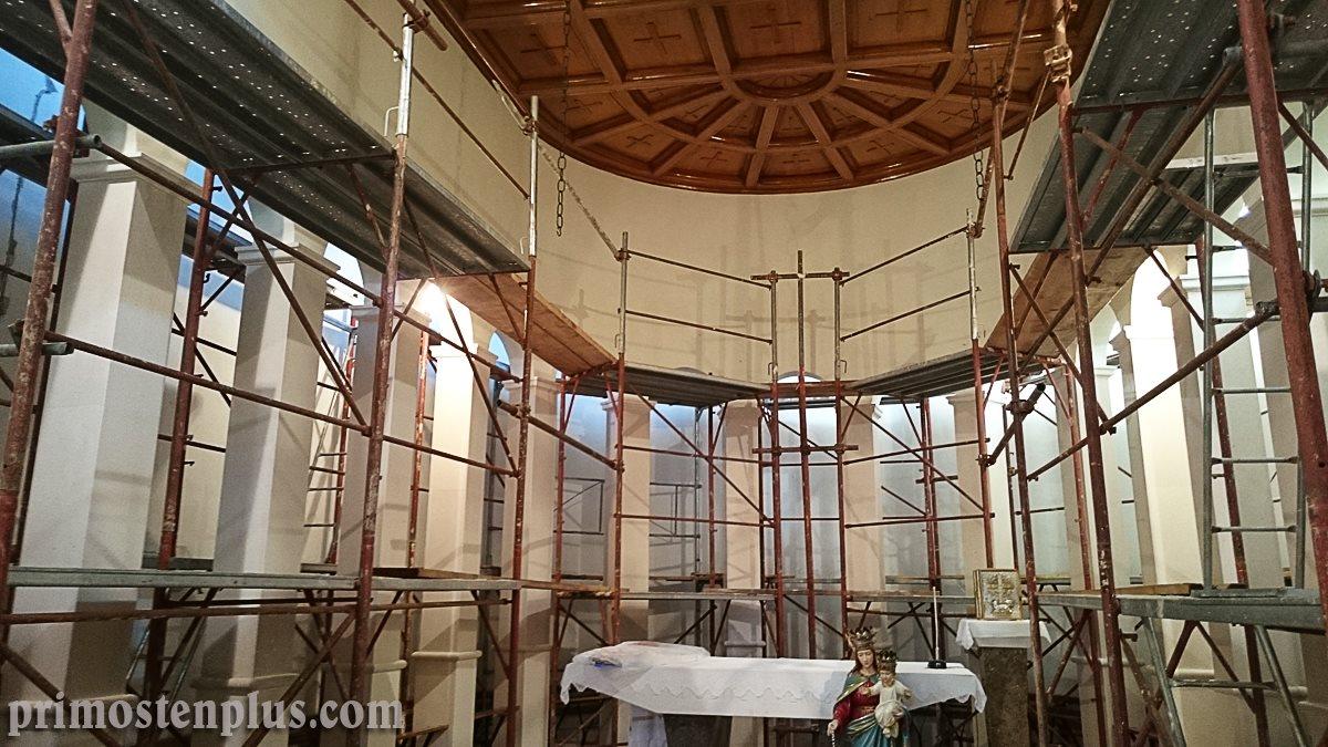 Obnova crkve u Primoštenu