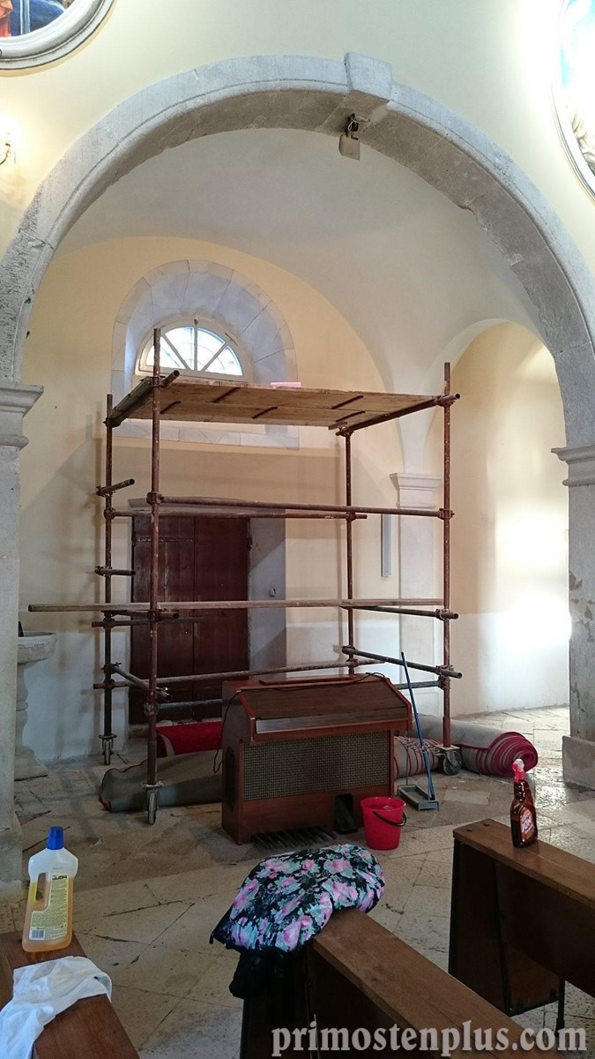 Preuređuje se unutrašnjost crkve sv. Jurja