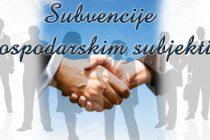 Javni poziv za podnošenje zahtjeva za dodjelu subvencija gospodarskih subjekata u 2016. godini