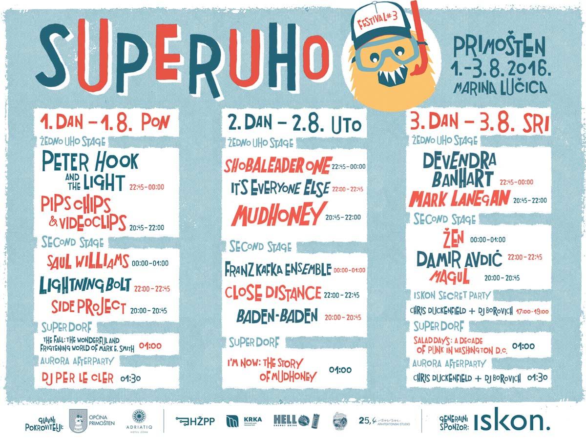SUPERUHO-2016-Dnevni-Raspored