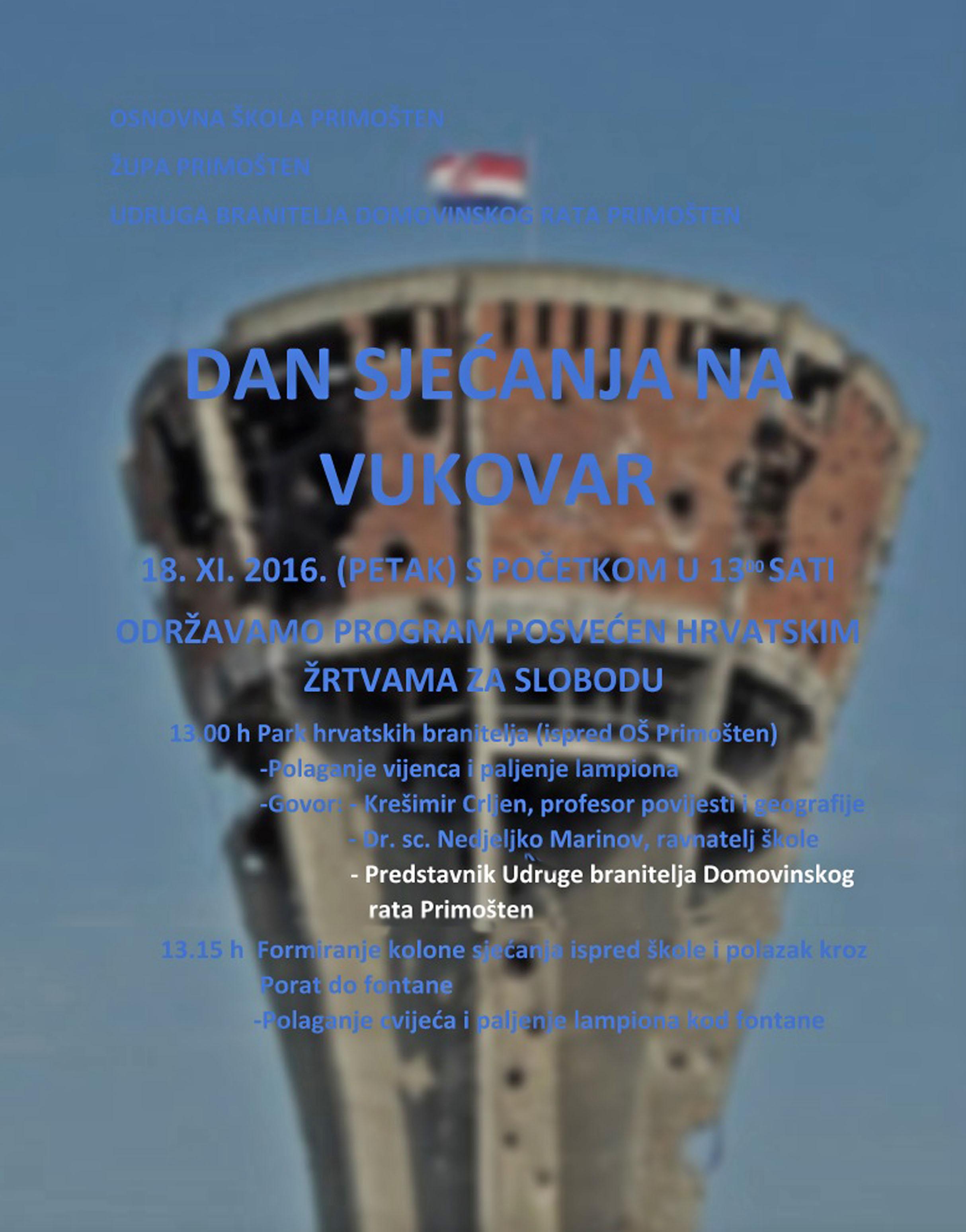 sjećanje Vukovar