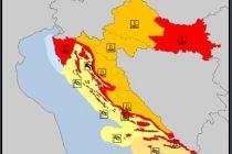 Meteorolozi izdali nova upozorenja, Meteoalarm i dalje u crvenom