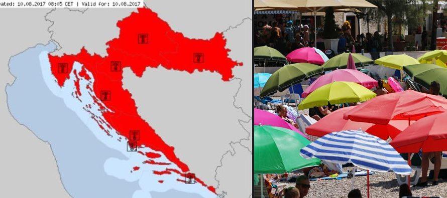 KAO ISPOD PEKE: Oprez, Bit će do 40°C, crveni alarm u cijeloj zemlji