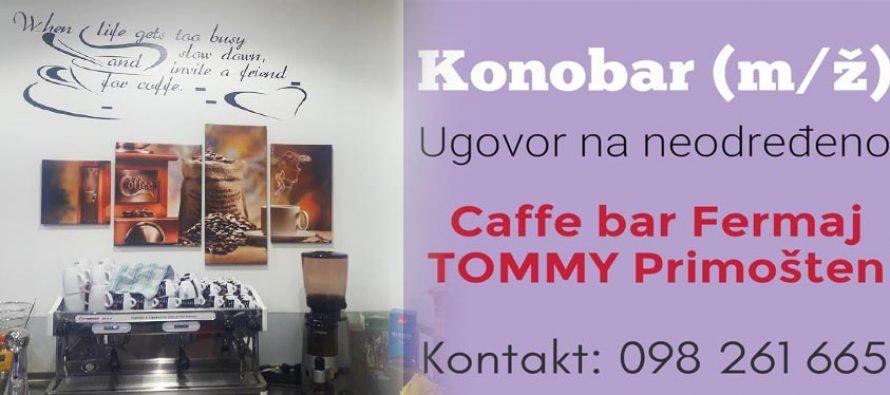 Caffe bar FERMAJ u Tommy-a otvorio dva radna mjesta
