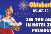 Adriatiq hotel Zora Oktoberfest party i ove godine u Primoštenu od 05.10. do 07.10.2018.