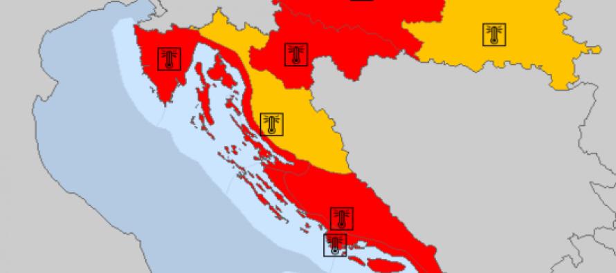 Zbog vrućina opasnih po zdravlje za obalni dio zemlje je na snazi najviši crveni meteoalarm